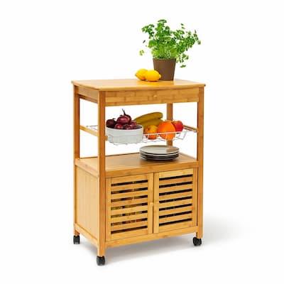 carrito de madera de cocina